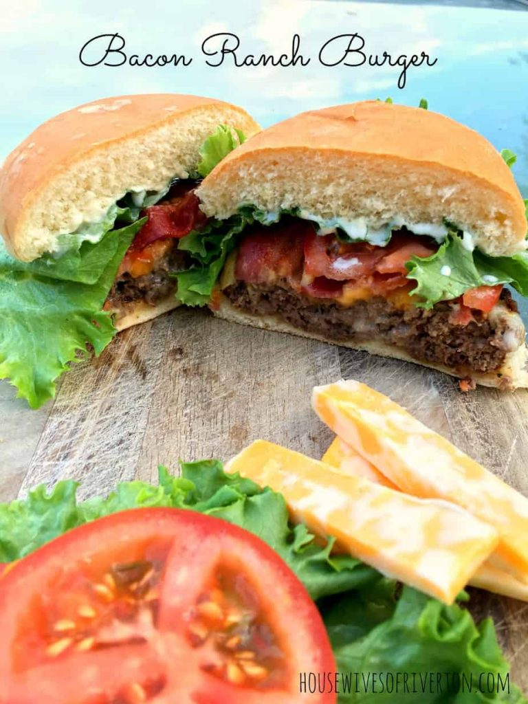 Bacon Ranch Burger | www.housewivesofriverton.com