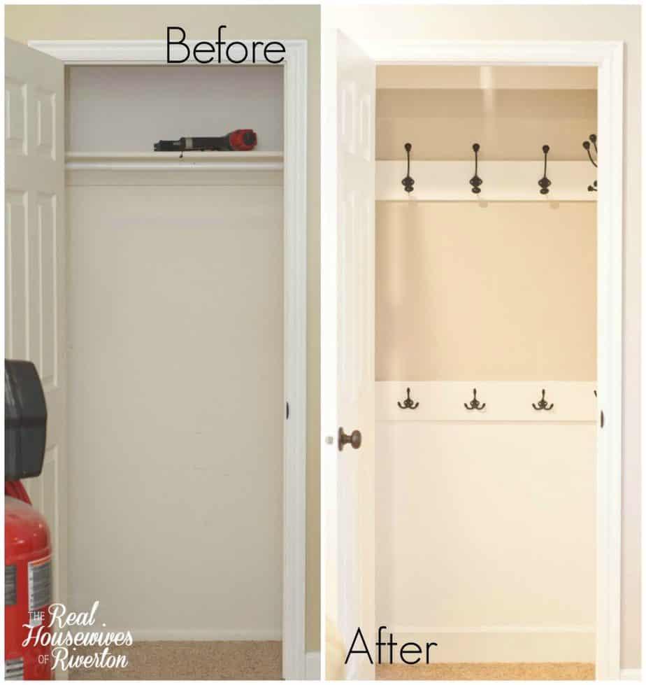 Coat Closet Makeover - housewivesofriverton.com