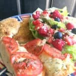 Mixed Berry Wedge Salad and Margherita French Bread