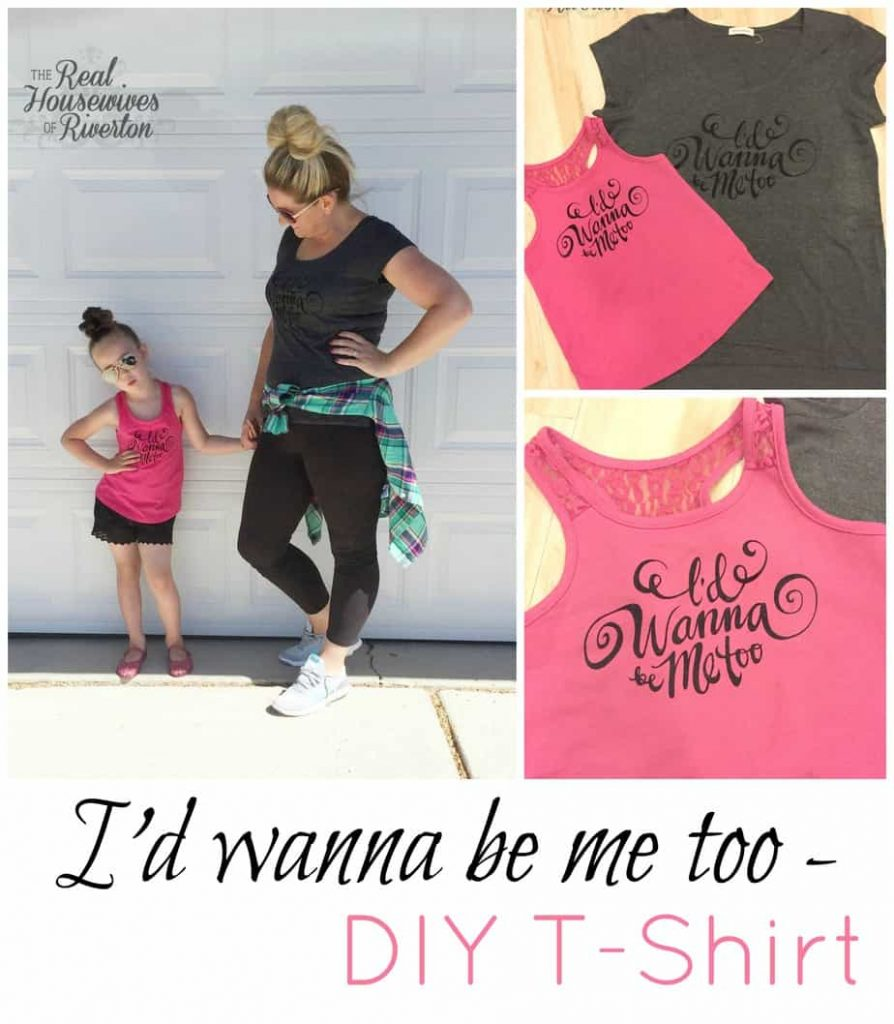 I'd Wanna Be Me Too – DIY T-Shirt