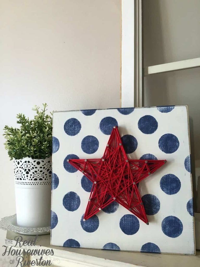 Patriotic Star String Art