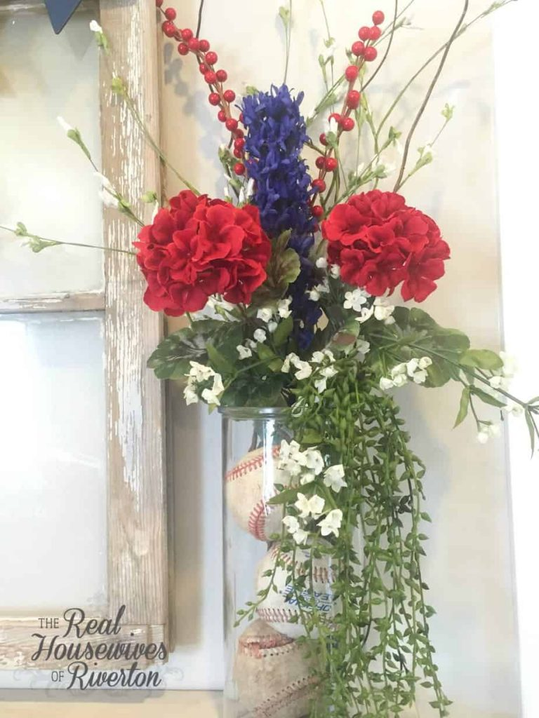 All American Floral Arrangement DIY