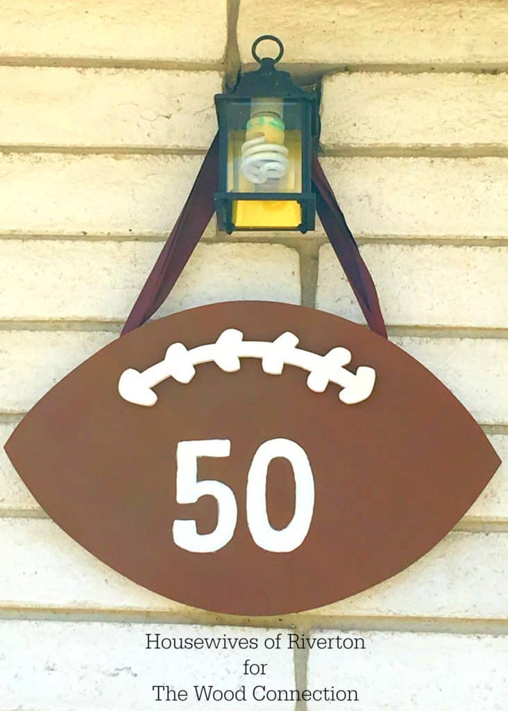Football Door Hang for The Wood Connection   www.housewivesofriverton.com