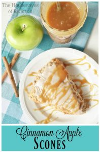 Cinnamon Apple Scones are perfect for any fall breakfast or brunch | www.housewivesofriverton.com