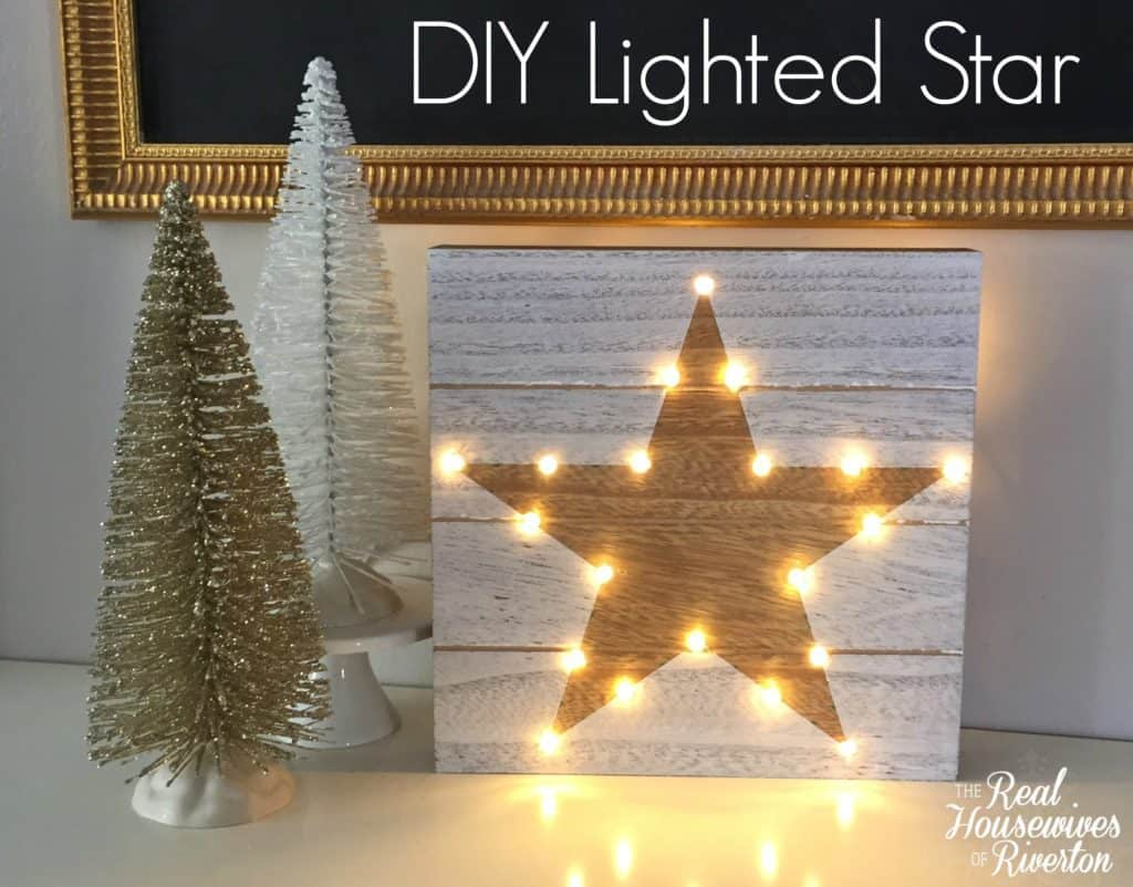 DIY Lighted Star Christmas Craft