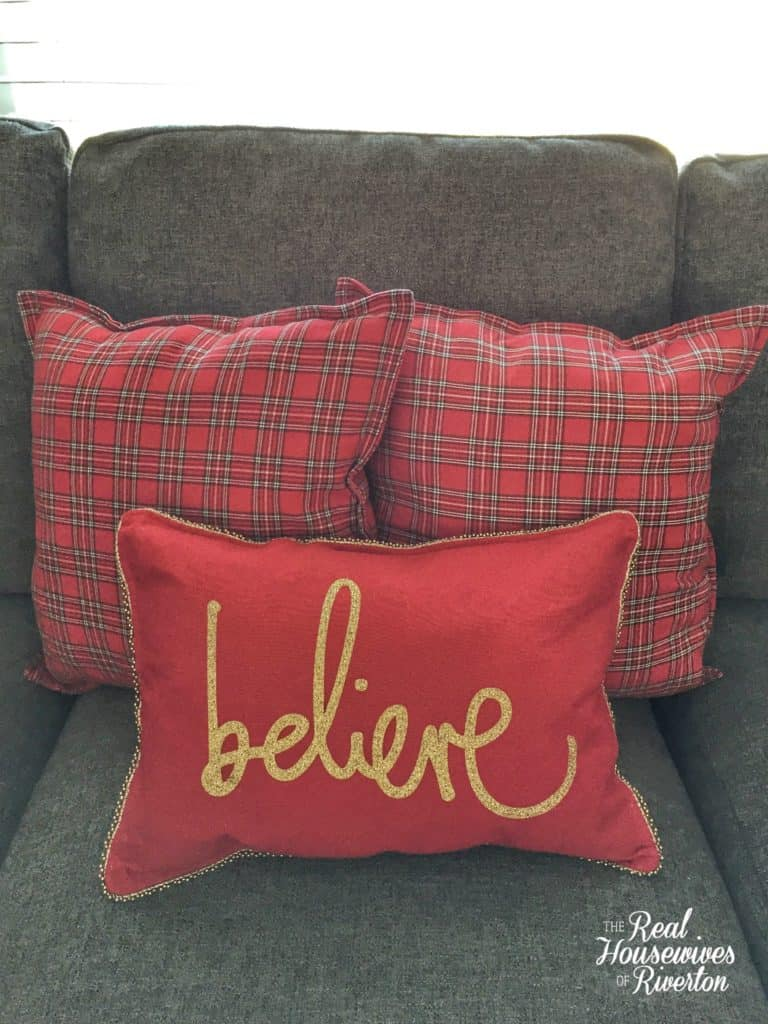 DIY Believe Throw Pillow Tutorial