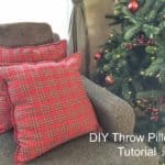 DIY Throw Pillows Tutorial – Using Cloth Napkins!