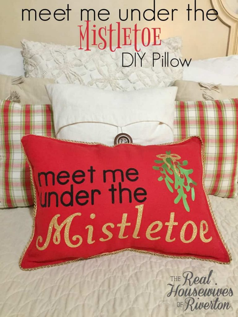 Meet Me Under the Mistletoe DIY Pillow