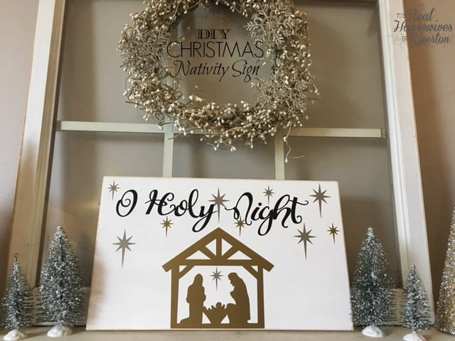 DIY Christmas Nativity Sign