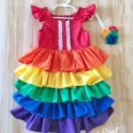 Rainbow Ruffle Dress Tutorial – Update