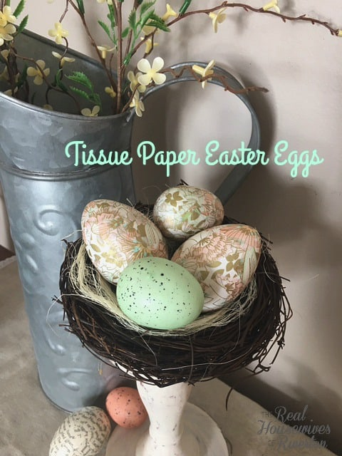 DIY TiSSUE PAPER EASTER EGGS