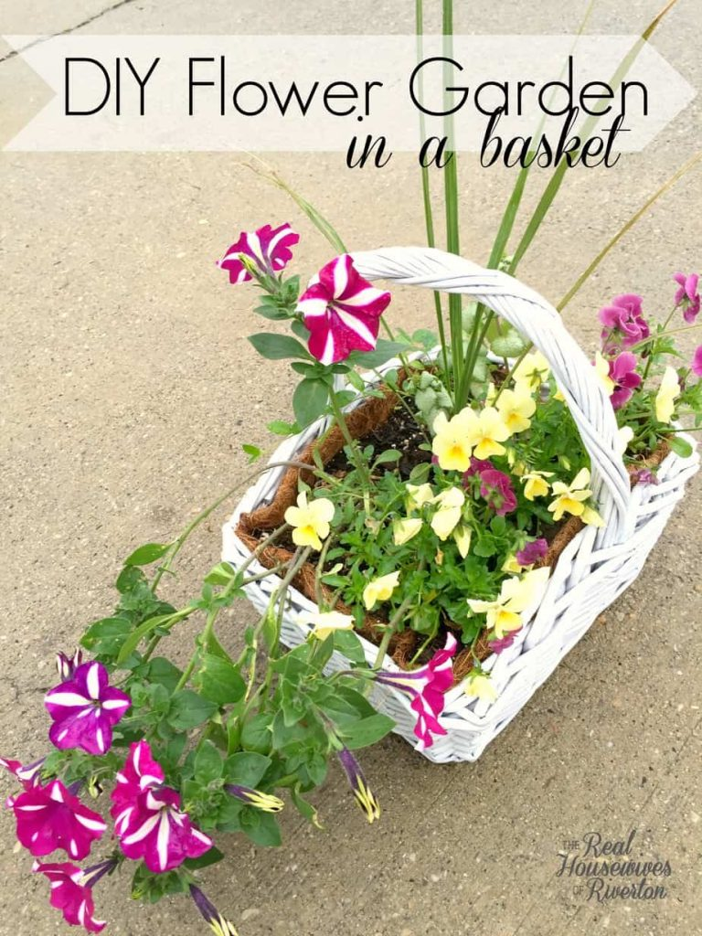 DIY Flower Garden in a Basket