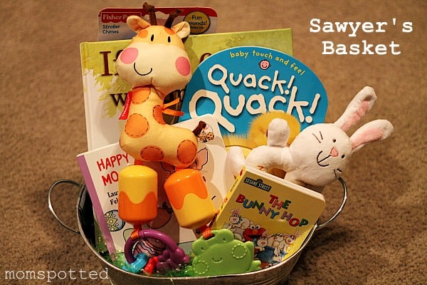 Creative easter basket ideas for babies to teens housewives of babies loved to be read to so i love all the different books momspotted used in this basket for her baby negle Choice Image