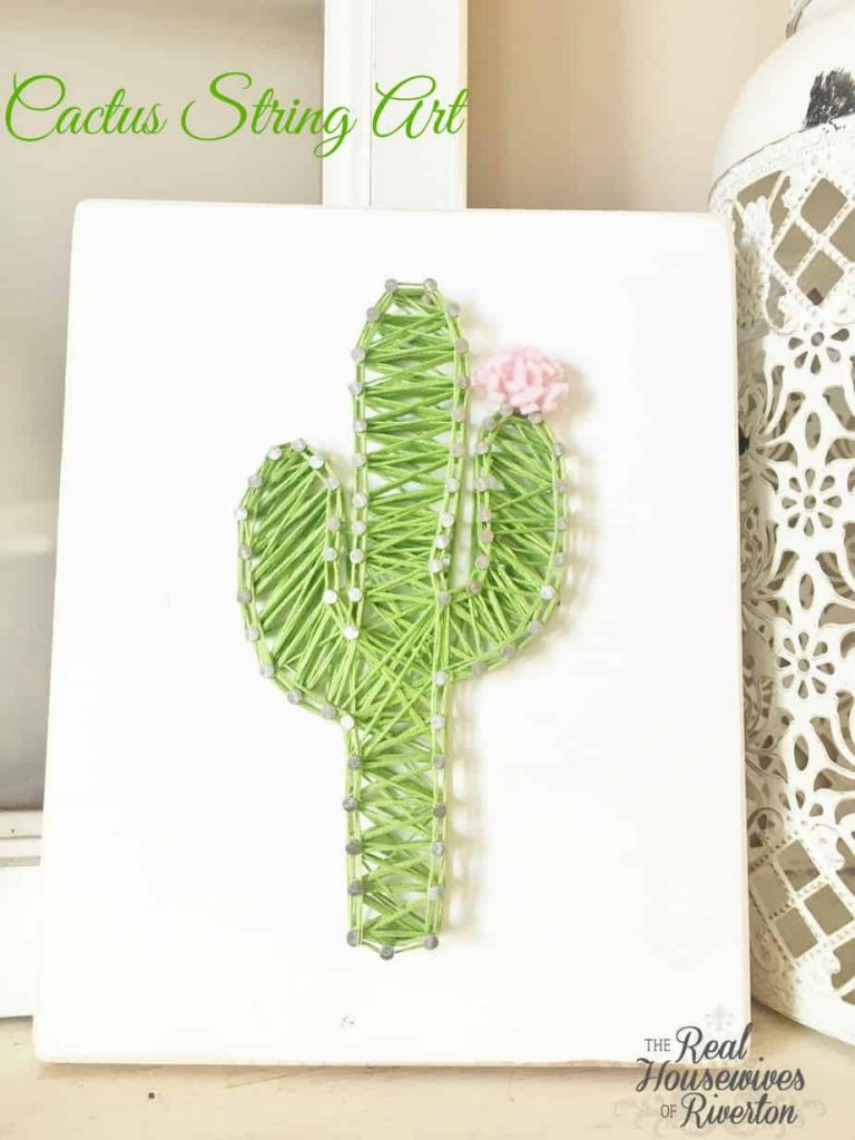 Cactus String Art Tutorial
