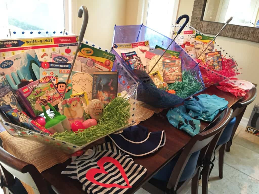 easter basket full of gifts