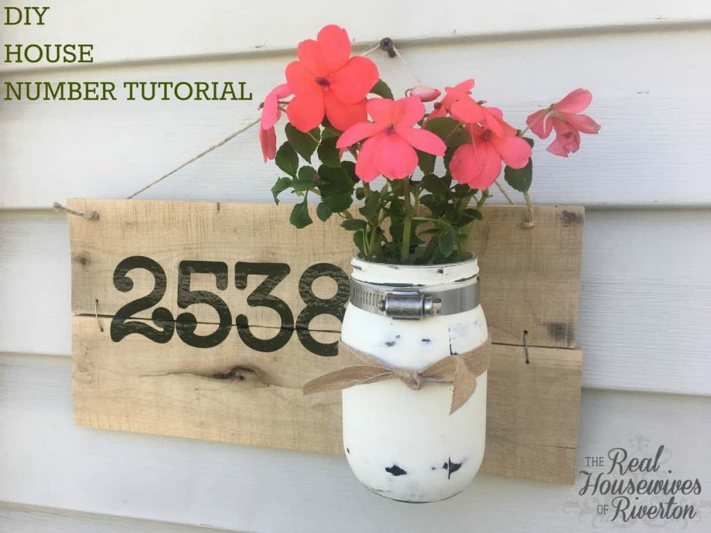 DIY House Number Planter Tutorial