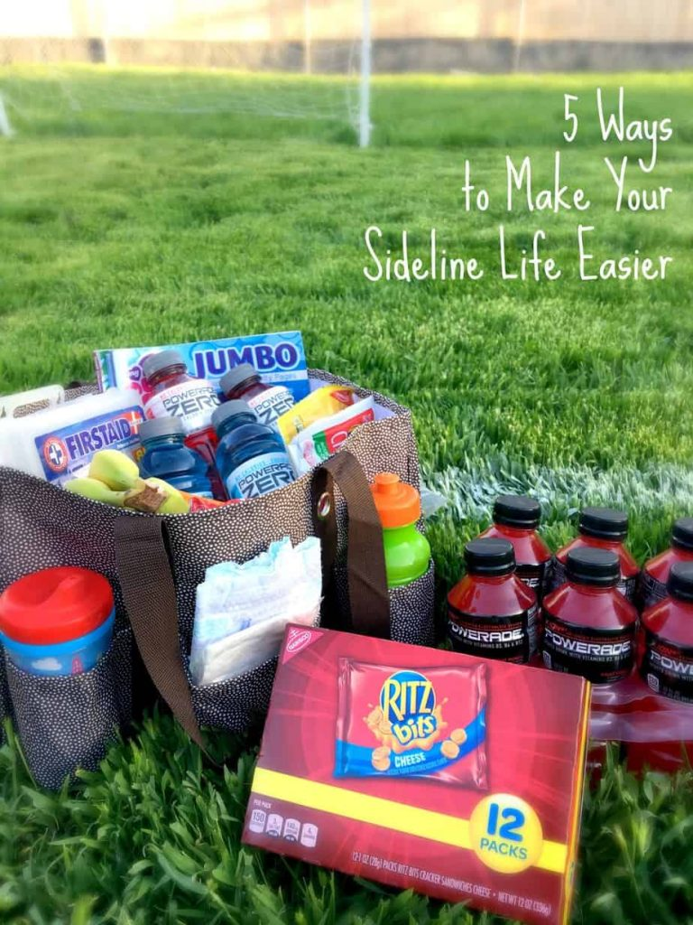 When your kids' sports are taking over you life, use these 5 ways to make your sideline life easier! Plan and prepare to make everything run smoothly! | www.housewivesofriverton.com