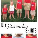 DIY Firecracker Shirts with Cricut