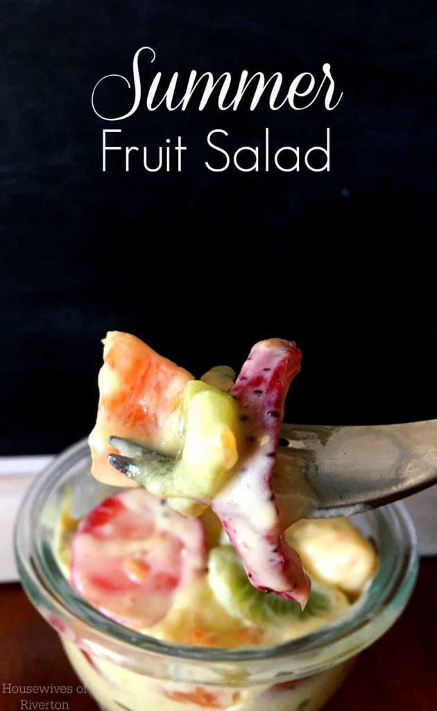 This Summer Fruit Salad brings together all the best tastes of summer! Definitely plan on it for your next meal! | www.housewivesofriverton.com