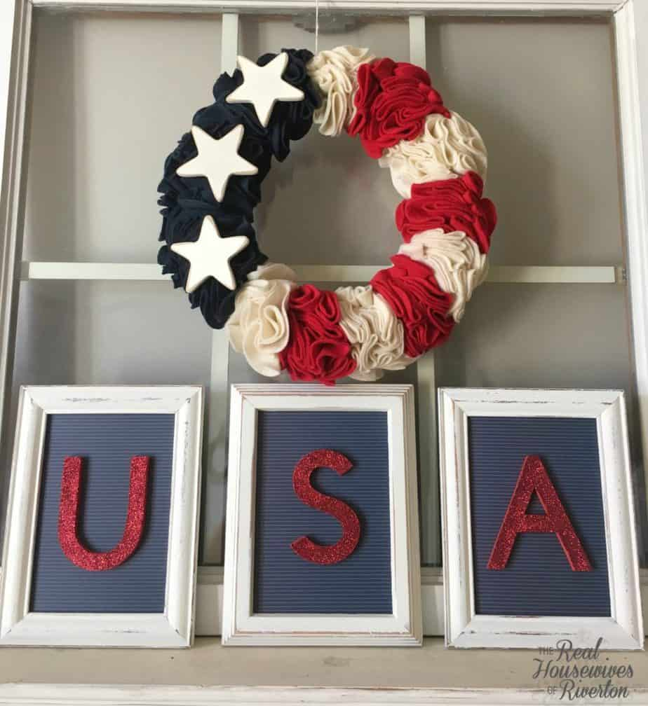 Framed Patriotic Decor