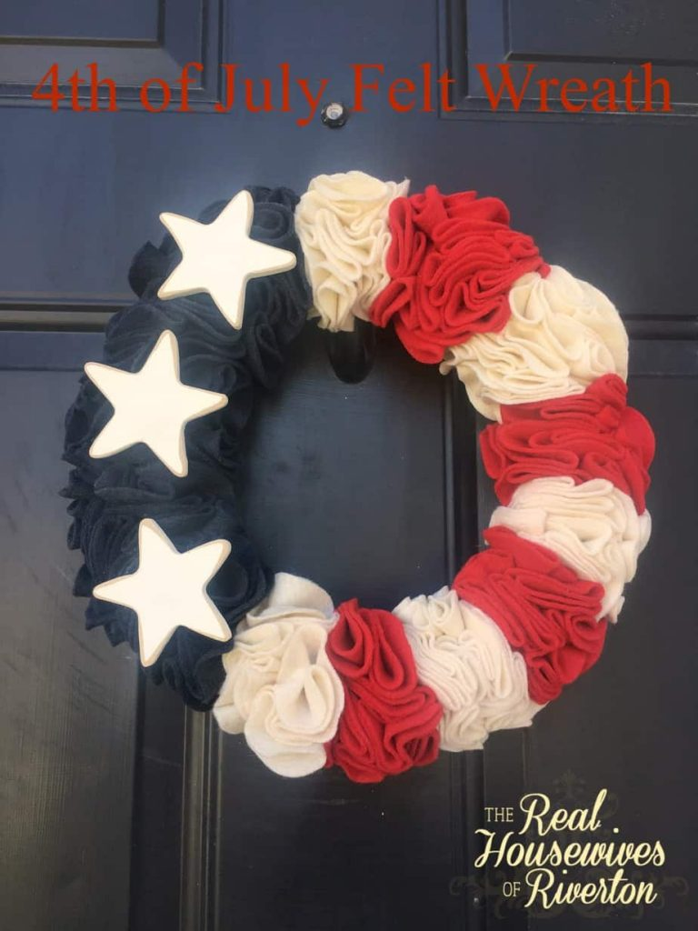 4th of July Felt Wreath Tutorial