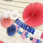 Red, White, and Blue BBQ Decor