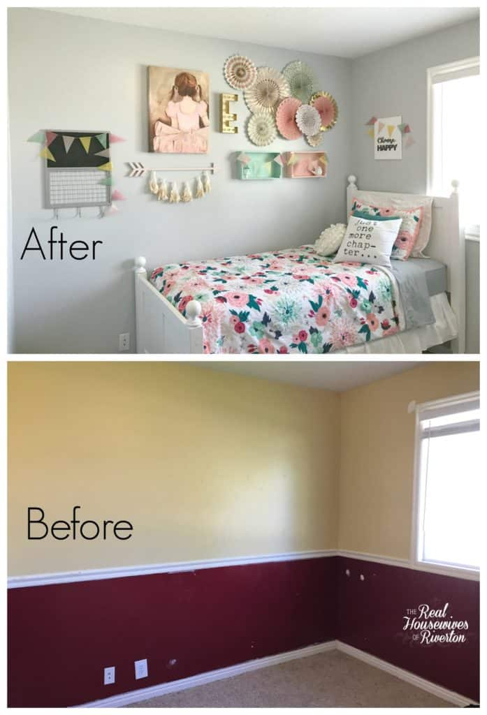 Girl's Small Bedroom Makeover Part 1 - Housewives of Riverton