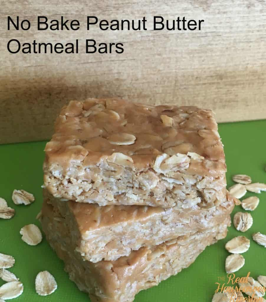 No Bake Peanut Butter Oatmeal Bars