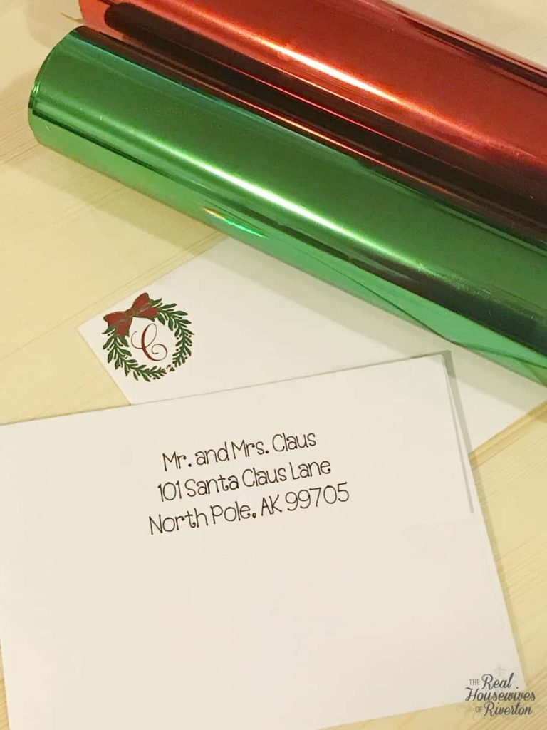 Customized Christmas Card Envelope - HousewivesofRiverton.com