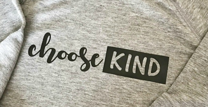 Wonder Inspired Choose Kind Shirt Tutorial