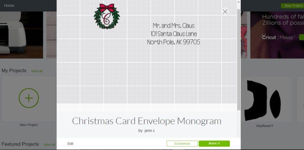 Customized Christmas Card Envelope - HousewivesofRiverton.com