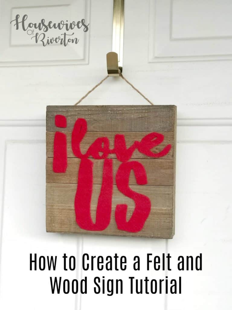 How to Create a Felt and Wood Sign tutorial