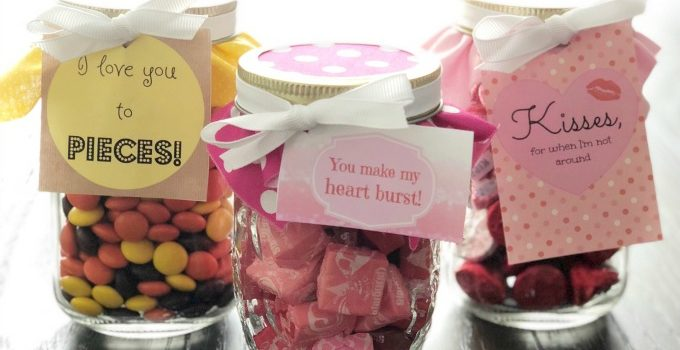 Mason Jar Valentine Candy Gifts Free Printables