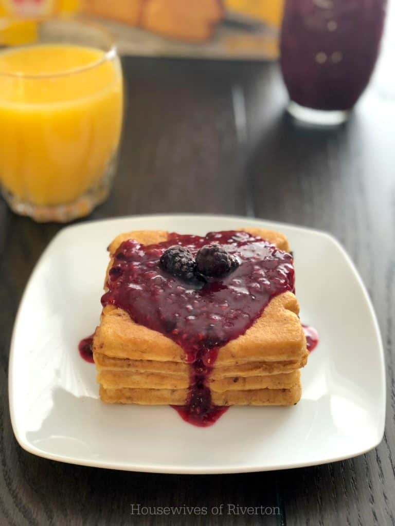 Our Triple Berry Topping is perfect for adding some delicious fruit to your breakfast routine! | www.housewivesofriverton.com