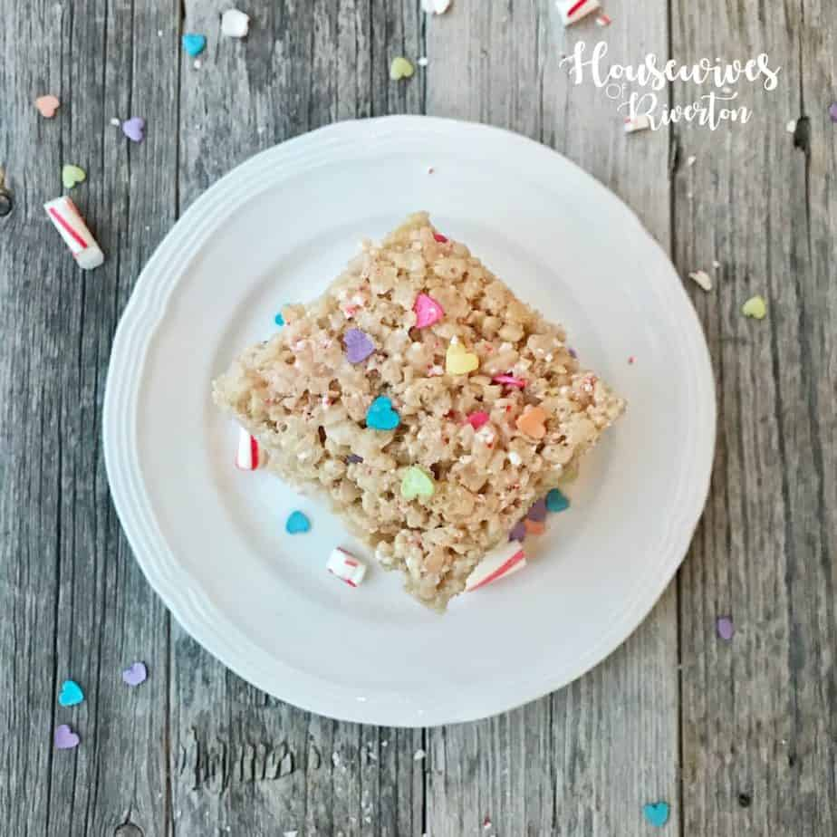 Candy Cane Valentine Rice Krispie Treats Recipe - housewivesofriverton.com