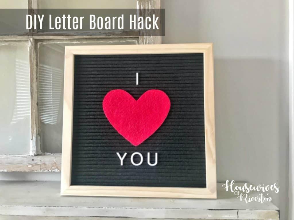 DIY Letter Board Hack (Letterboard Felt Hack) - housewivesofriverton.om