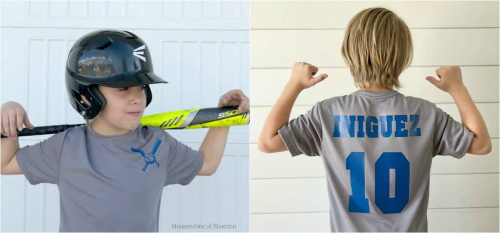 With Cricut SportFlex™ Iron On you can customize | www.housewivesofriverton.com