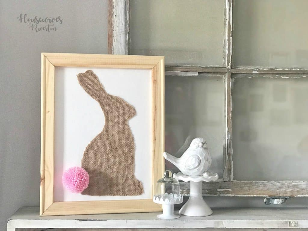 Burlap Bunny Reverse Canvas - Housewivesofriverton.com