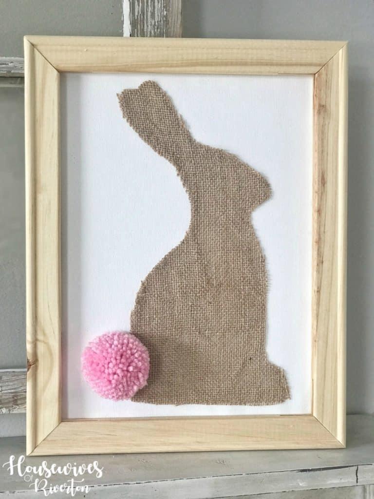 Burlap Bunny Reverse Canvas - Housewivesofriverton.com