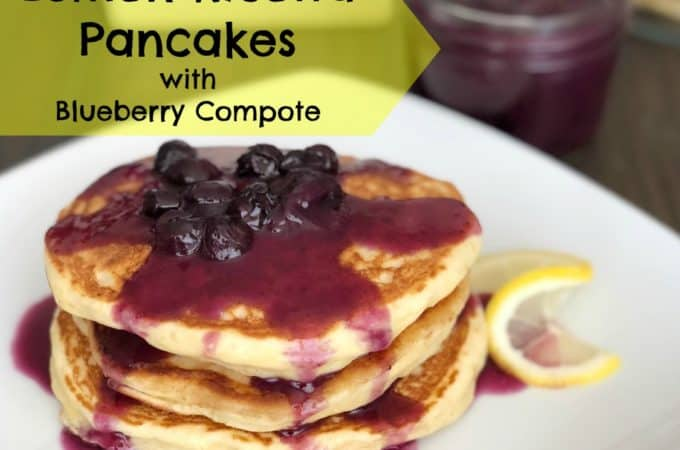 Lemon Ricotta Pancakes with Blueberry Compote | www.housewivesofriverton.com
