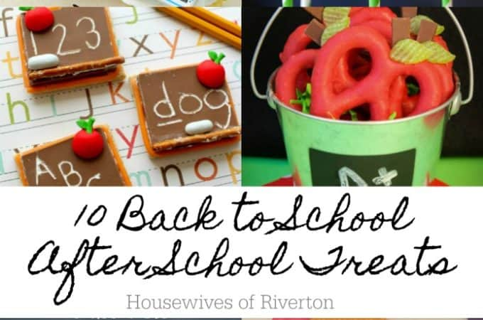 10 Back to School After School Treats | www.housewivesofriverton.com