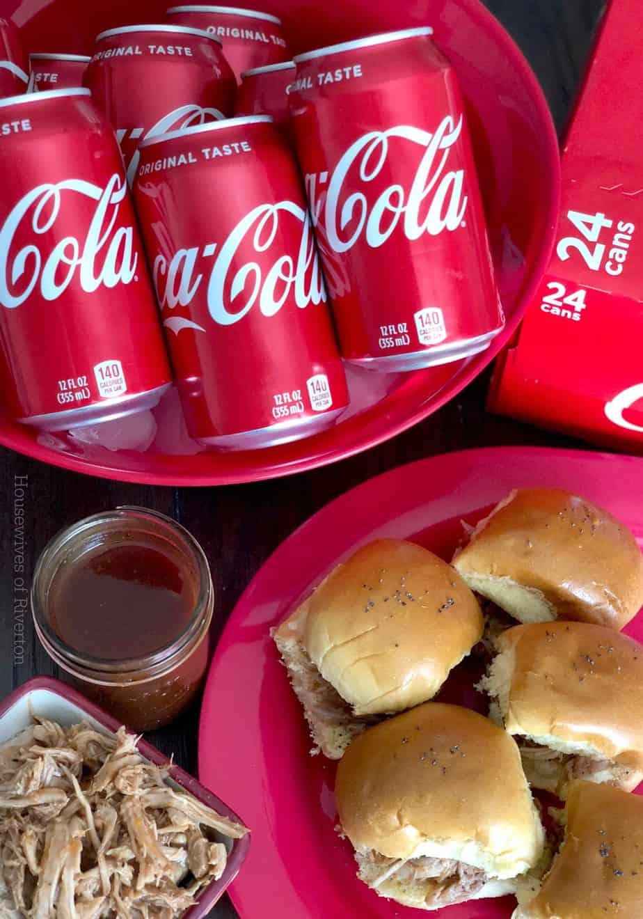 Coca Cola Pulled Pork Sliders with Hawaiian Sweet Rolls | www.housewivesofriverton.com