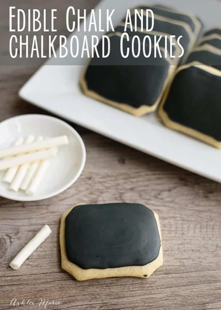 Edible Chalk and Chalkboard Cookies |10 Back to School After School Treats | www.housewivesofriverton.com
