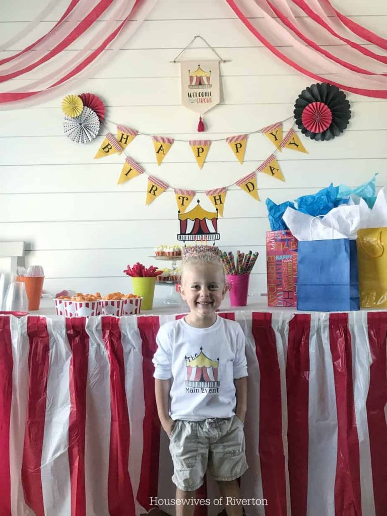 Big Top Birthday Party with Cricut | www.housewivesofriverton.com