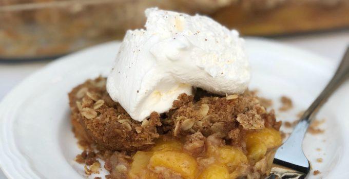 Fresh Peach Crumble Recipe