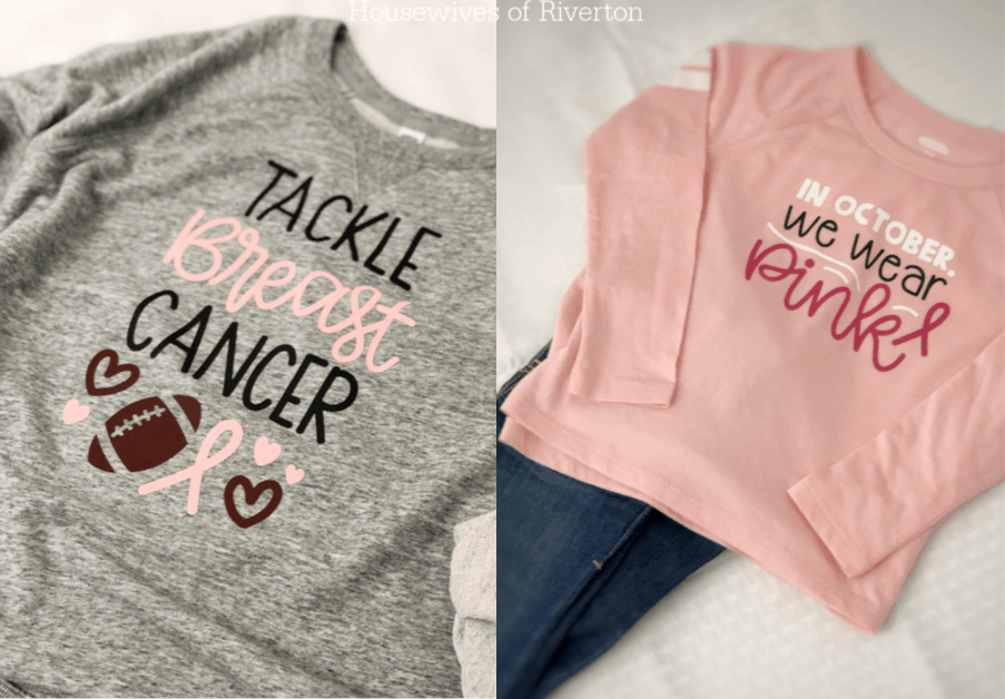 Breast Cancer Awareness Shirts with Cricut | www.housewivesofriverton.com