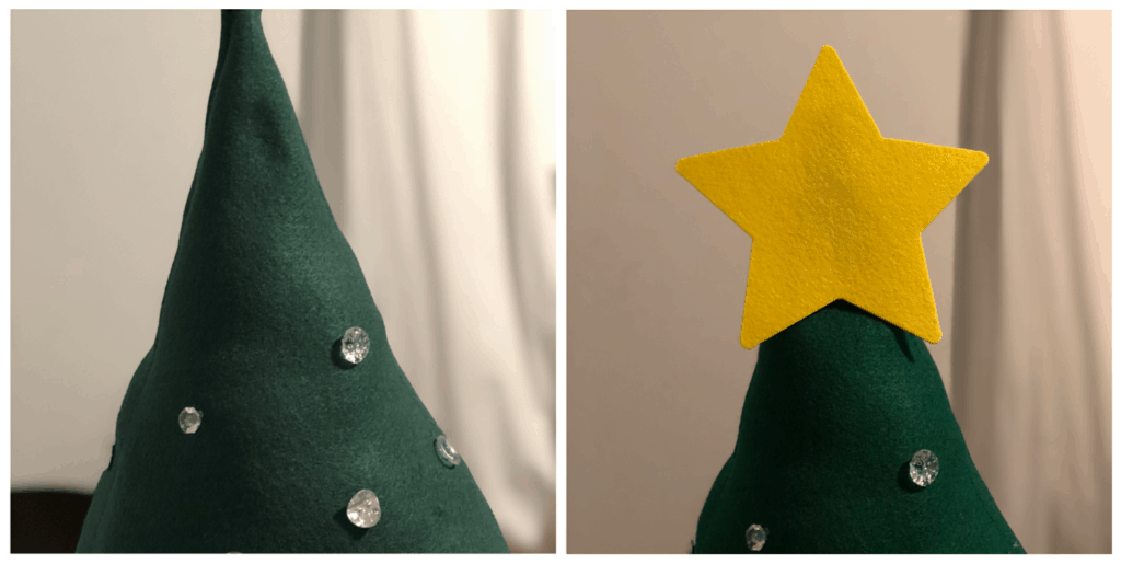 Buttons and Star on Felt Christmas Tree | www.housewivesofriverton