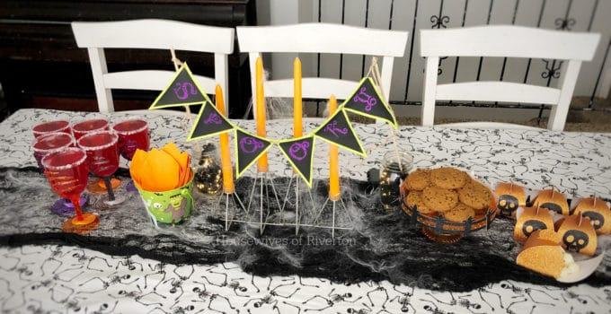 Easy Halloween Table Decor with Cricut