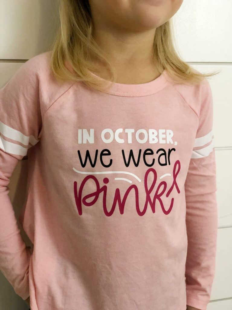 Up close Breast Cancer Awareness Shirts | www.housewivesofriverton.com