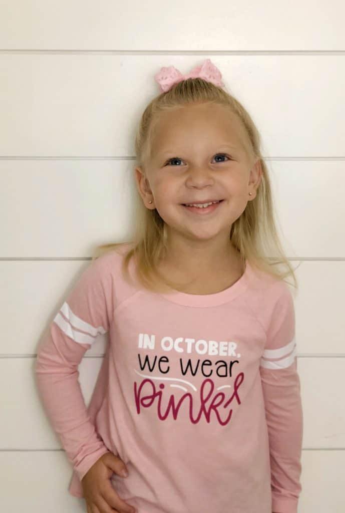 In October we wear Pink shirt | www.housewivesofriverton.com